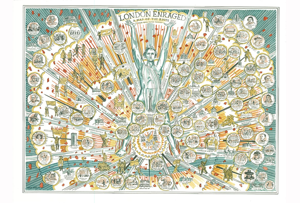 Adam Dant - London Enraged - courtesy of TAG Fine Arts